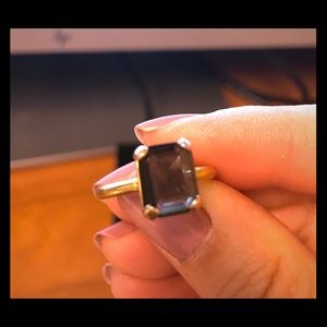 Emerald cut vintage ring size 6
